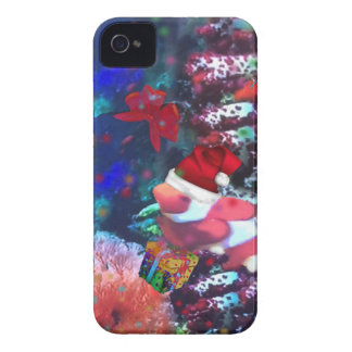 Sea depth in Christmas season iPhone 4 Case