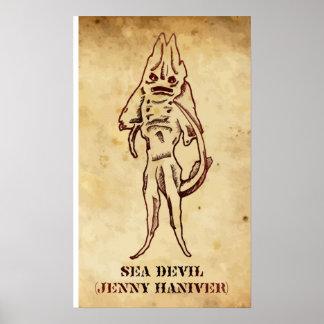 """""""Sea Devil"""" Posters"""