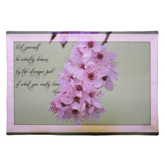 Sea dibujado por lo que usted ama la flor de cerez manteles