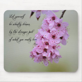 Sea dibujado por lo que usted ama la flor de cerez tapetes de raton