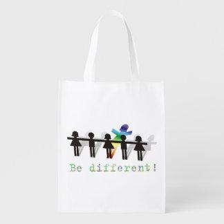¡Sea diferente! Bolsas Para La Compra
