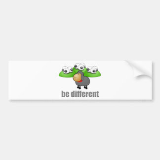 Sea diferente pegatina para auto