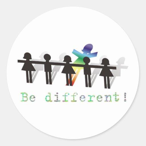 ¡Sea diferente! Etiqueta Redonda