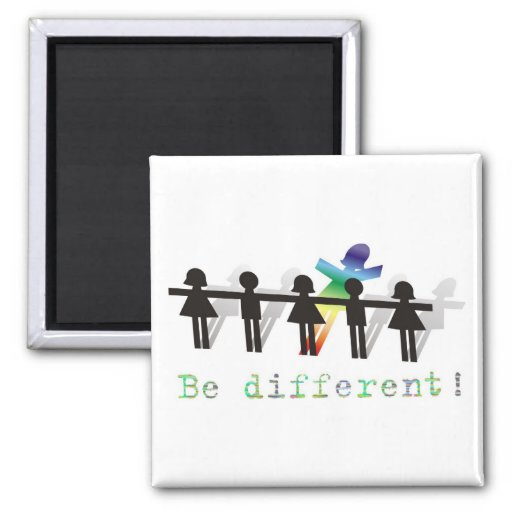 ¡Sea diferente! Imanes Para Frigoríficos