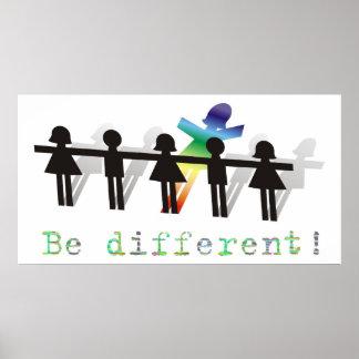 ¡Sea diferente! Poster