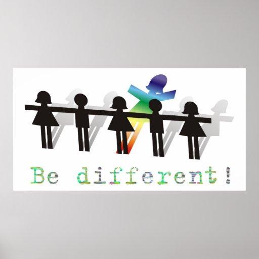 ¡Sea diferente! Póster