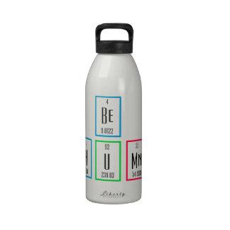 Sea diseño humano de la ciencia de la tabla periód botella de agua reutilizable