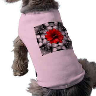 Sea diversa flor roja camisa de mascota