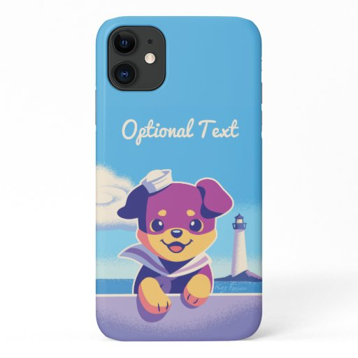 Sea Dog Puppy Sailor Rottweiler iPhone 11 Case