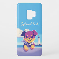 Sea Dog Puppy Sailor Rottweiler Case-Mate Samsung Galaxy S9 Case