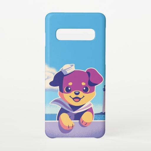 Sea Dog Puppy Sailor Rottweiler Samsung Galaxy S10 Case
