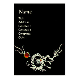 SEA DRAGON 2 RUBY MONOGRAM  black and white red Large Business Card