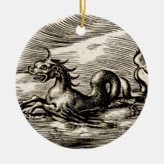 Sea Dragon at the Equator Ceramic Ornament