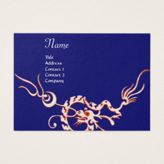 SEA DRAGON blue red black and white Business Card