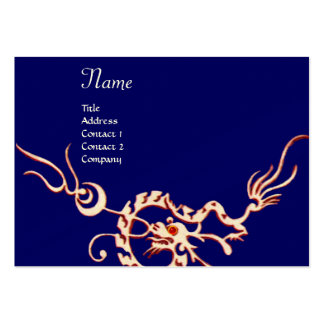 SEA DRAGON blue red black and white Large Business Card