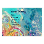 SEA DRAGON , blue yellow pink purple Business Card Template