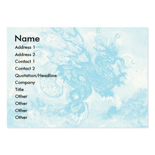 SEA DRAGON , blue yellow pink purple Business Card Template