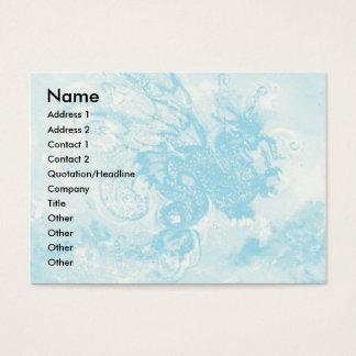 SEA DRAGON , blue yellow pink purple Business Card