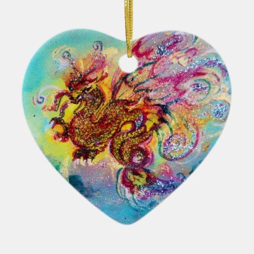 SEA DRAGON Heart Christmas Ornament