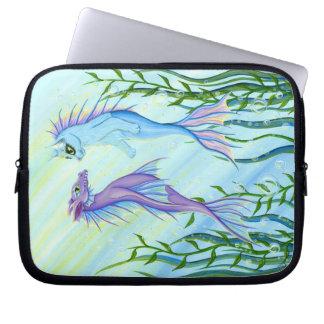 Sea Dragon & Mermaid Cat Fantasy Art Laptop Sleeve