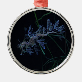 Sea Dragon Round Metal Christmas Ornament