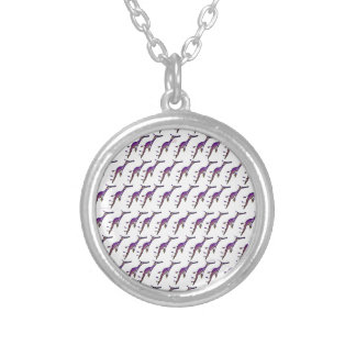 Sea Dragon Pattern Round Pendant Necklace