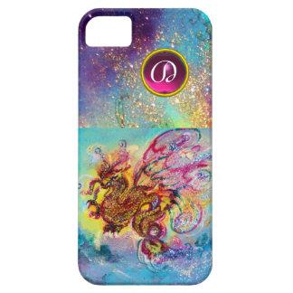 SEA DRAGON PINK PURPLE GEM STONE MONOGRAM iPhone SE/5/5s CASE