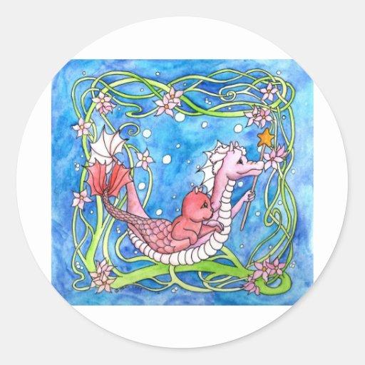 Sea Dragon Quest Classic Round Sticker
