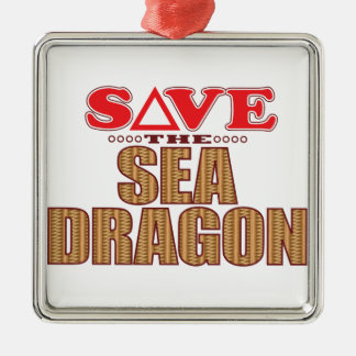 Sea Dragon Save Metal Ornament