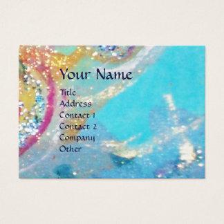 SEA DRAGON WINGS ,Blue Swirls, yellow pink purple Business Card
