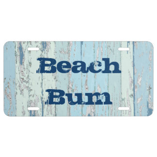 Sea Driftwood License Plate