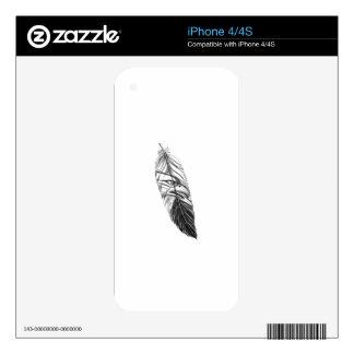Sea Eagle Feather Tattoo iPhone 4 Skins