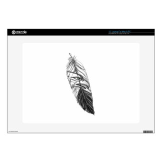 Sea Eagle Feather Tattoo Laptop Decals