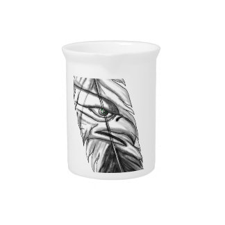 Sea Eagle Feather Tattoo Pitcher
