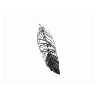 Sea Eagle Feather Tattoo Postcard