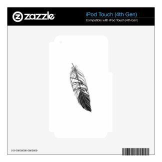Sea Eagle Feather Tattoo Skin For iPod Touch 4G