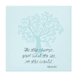 Sea el árbol del cambio lienzo envuelto para galerias