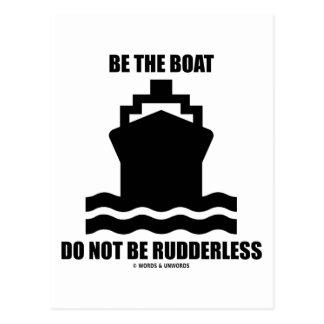 Sea el barco no son sin timón (la muestra del barc postales