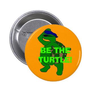 Sea el botón de la tortuga pin