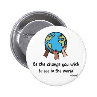 Sea el botón del cambio pins