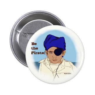 Sea el botón del pirata pin redondo de 2 pulgadas
