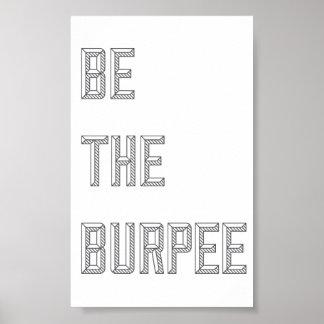 Sea el Burpee - poster vertical