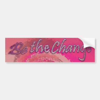 Sea el cambio pegatina de parachoque