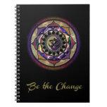 Sea el cambio con púrpura y el diario de la libreta