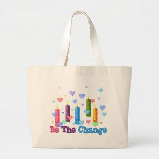 Sea el cambio del mundo bolsas de mano