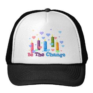 Sea el cambio del mundo gorros bordados
