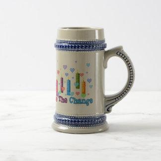 Sea el cambio del mundo taza de café