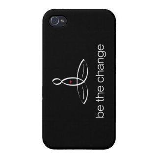 Sea el cambio - estilo regular blanco iPhone 4 carcasa