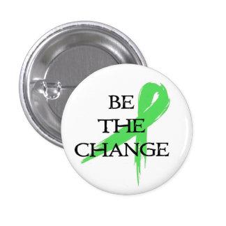 Sea el cambio - mes de la conciencia de la salud m pin redondo de 1 pulgada