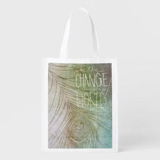 Sea el cambio que usted desea ver bolsa de la compra
